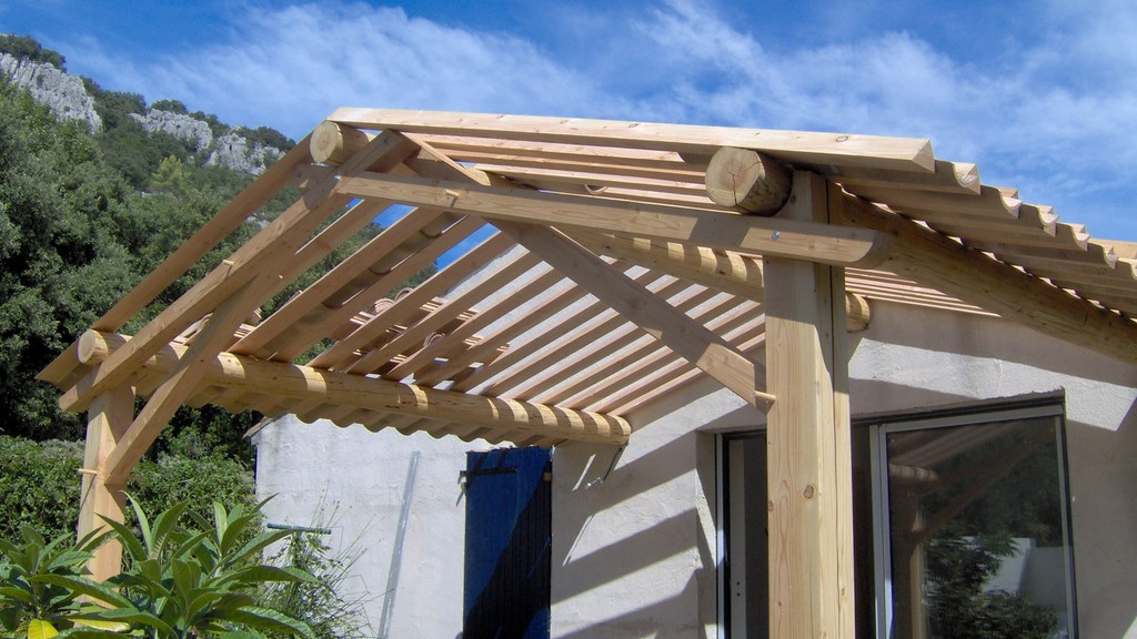 Pergolas bois montpellier h rault 34 for Photo pergola bois